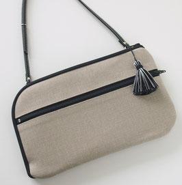 お財布ショルダーバッグ【ラージサイズ】サンドベージュ
