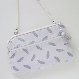 お財布ショルダーバッグ【ラージサイズ】フェザー