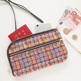 お財布ショルダーバッグ【ラージサイズ】ツイード風