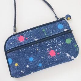 お財布ショルダーバッグ【ラージサイズ】ペンキ・選べるシリーズ