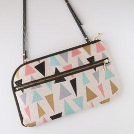 お財布ショルダーバッグ【ラージサイズ】三角もよう