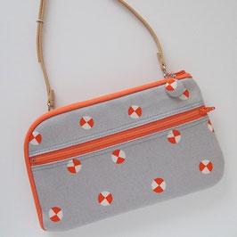 お財布ショルダーバッグ【ノーマルタイプ】オレンジ紙風船