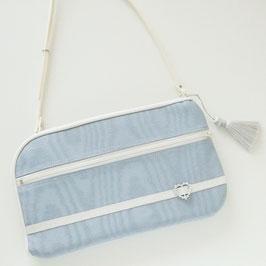 お財布ショルダーバッグ【ラージサイズ】モアレ・ペールブルー