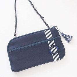 お財布ショルダーバッグ【ラージサイズ】イタリアンバックル