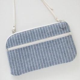 お財布ショルダーバッグ【ラージサイズ】ストライプ