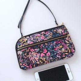 お財布ショルダーバッグ【ラージサイズ】リバティプリント・フェルダで作りました