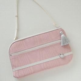 お財布ショルダーバッグ【ラージサイズ】モアレ・ピンク