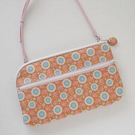 お財布ショルダーバッグ【ラージサイズ】Tildaサンフラワーハニーで作りました