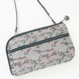 お財布ショルダーバッグ【ラージサイズ】カモフラ・ジャガード織り