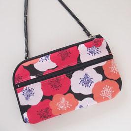 お財布ショルダーバッグ【ラージサイズ】ふらわー
