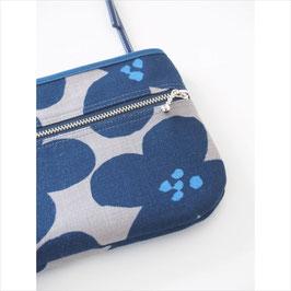 お財布ショルダーバッグ【ラージサイズ】ブルー花柄
