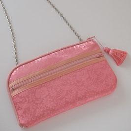 お財布ショルダーバッグ【ラージサイズ】綸子(りんず)ピンク