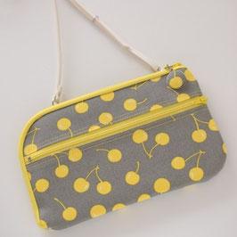 お財布ショルダーバッグ【ノーマルタイプ】黄色いさくらんぼ