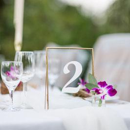 individuelle Tischnummern (Klebefolie)