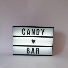 Candybar Leuchtschild