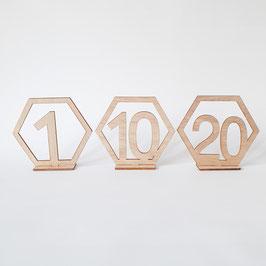 Tischnummern Holz 1 - 20