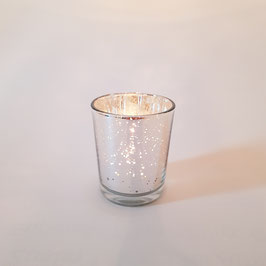 Teelicht Silver Sparkle