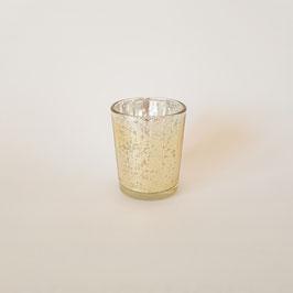 Teelicht Golden Sparkel