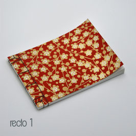 carnet à reliure japonaise koki toji 14,5  x 10 cm