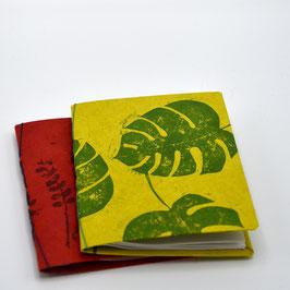 """carnet à mots de passe """"feuilles de monstera"""" 40 pages"""