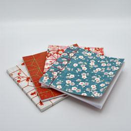 carnet à reliure japonaise asa no ha toji 15 x 15