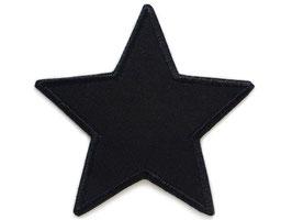 Stern Canvas schwarz Aufnäher