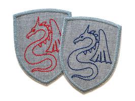 Drachen Wappen Applikation