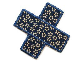 Hosenpflaster Flicken Blümchen dunkelblau