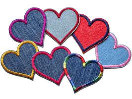 Herz Jeansflicken 7er Set