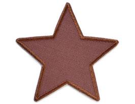 Stern Canvas braun Aufnäher