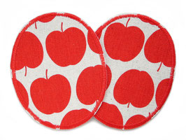 2 Knieflicken Apfel rot