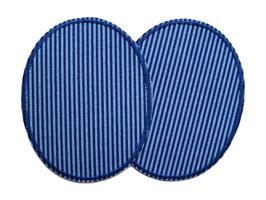 2 Knieflicken Jeans dunkelblau