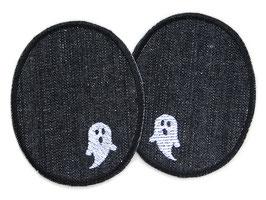 2 Jeansflicken kleine Gespenster