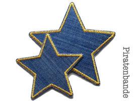 Stern Jeans Aufnäher ocker