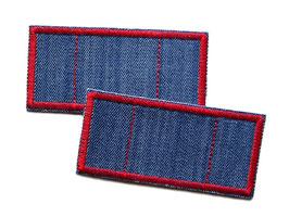 2 Trostpflaster für die Jeans - rot