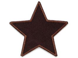 Stern Cord braun Aufnäher