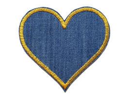 Jeans Flicken Herz goldgelb