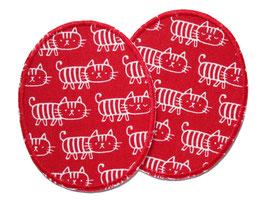 2 Knieflicken Katzen rot