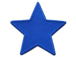 Stern Canvas blau Aufnäher