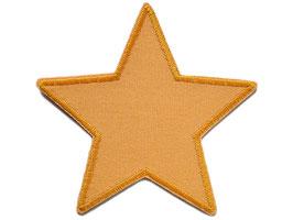 Stern Canvas gelb-orange Aufnäher