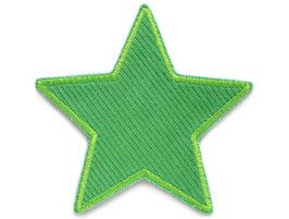 Stern Cord grün Aufnäher