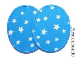 2 Knieflicken Sternchen hellblau