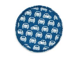 Hosenflicken Autos Oldtimer blau