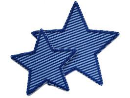 Stern Jeans blau Aufnäher