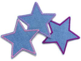 Stern Jeans 3er Set Rosa Lila Flieder