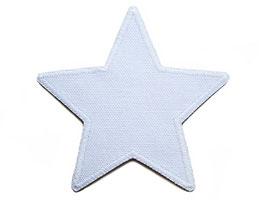 Stern Canvas weiß Aufnäher
