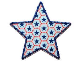 Stern Sternchen blau Aufnäher