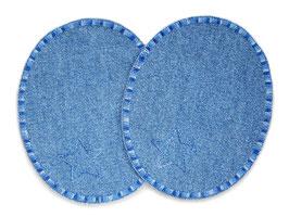 2 Jeansflicken Sternchen mittelblau