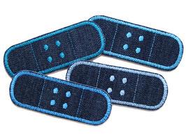 4er Set Jeans Trostpflaster blau