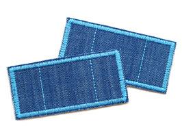 2 Trostpflaster für die Jeans - hellblau